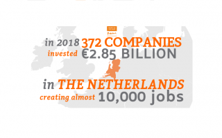 More Foreign Companies Invest in Holland in 2018: 10,000 extra jobs